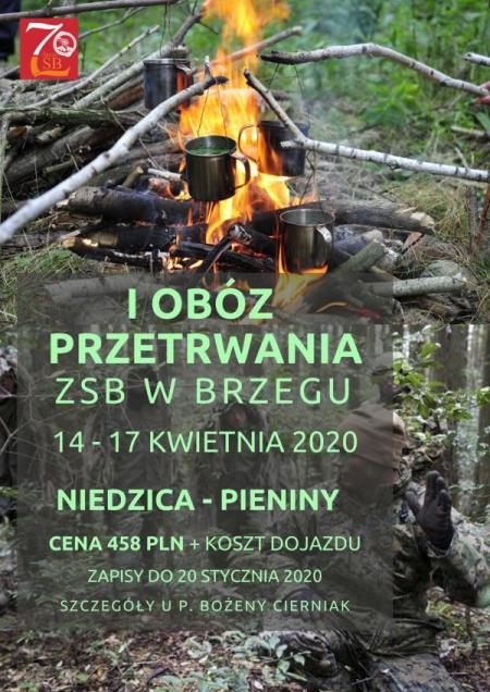 Łowcy Adrenaliny - obóz dla uczniów ZSB w Brzegu