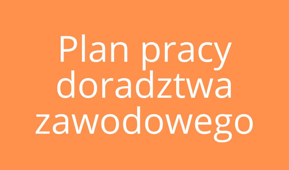 Plan pracy doradcy zawodowego 2019/2020