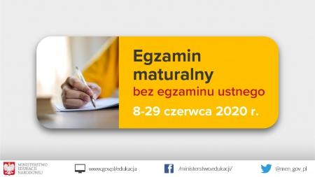 Harmonogram egzaminów maturalnego i zawodowego
