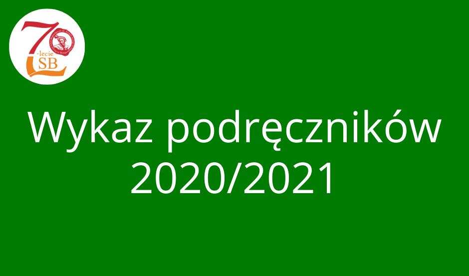 Podręczniki obowiązujące w roku szkolnym 2020/2021