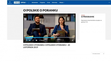 O profilaktyce w TVP3 Opole