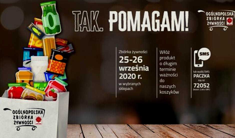 """XVIII Ogólnopolska Zbiórka Żywności pod hasłem """"Tak, pomagam"""""""