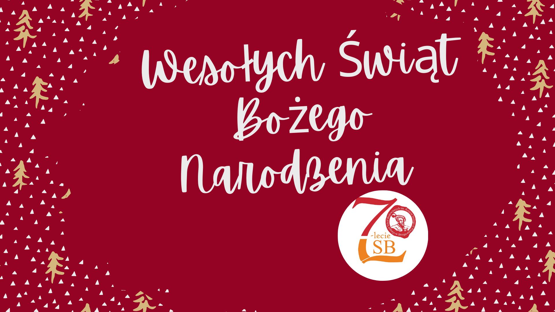 Świąteczny czas .... życzenia od Dyrekcji ZSB w Brzegu