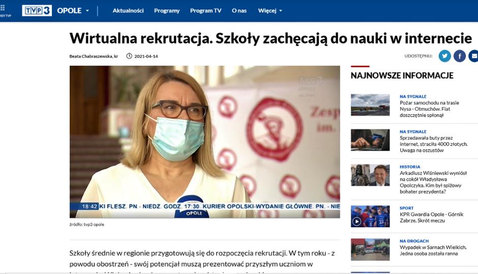 W TVP3 Opole o ZSB w Brzegu