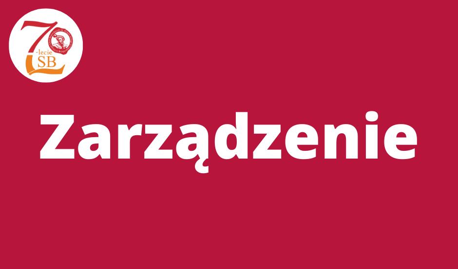 Zarządzenie nr 22/2019/2020 Dyrektora Zespołu Szkół Budowlanych im. Księcia